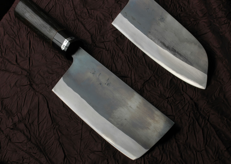 All Purpose Knives Kurouchi Santoku And Nakkiri Knife 165mm